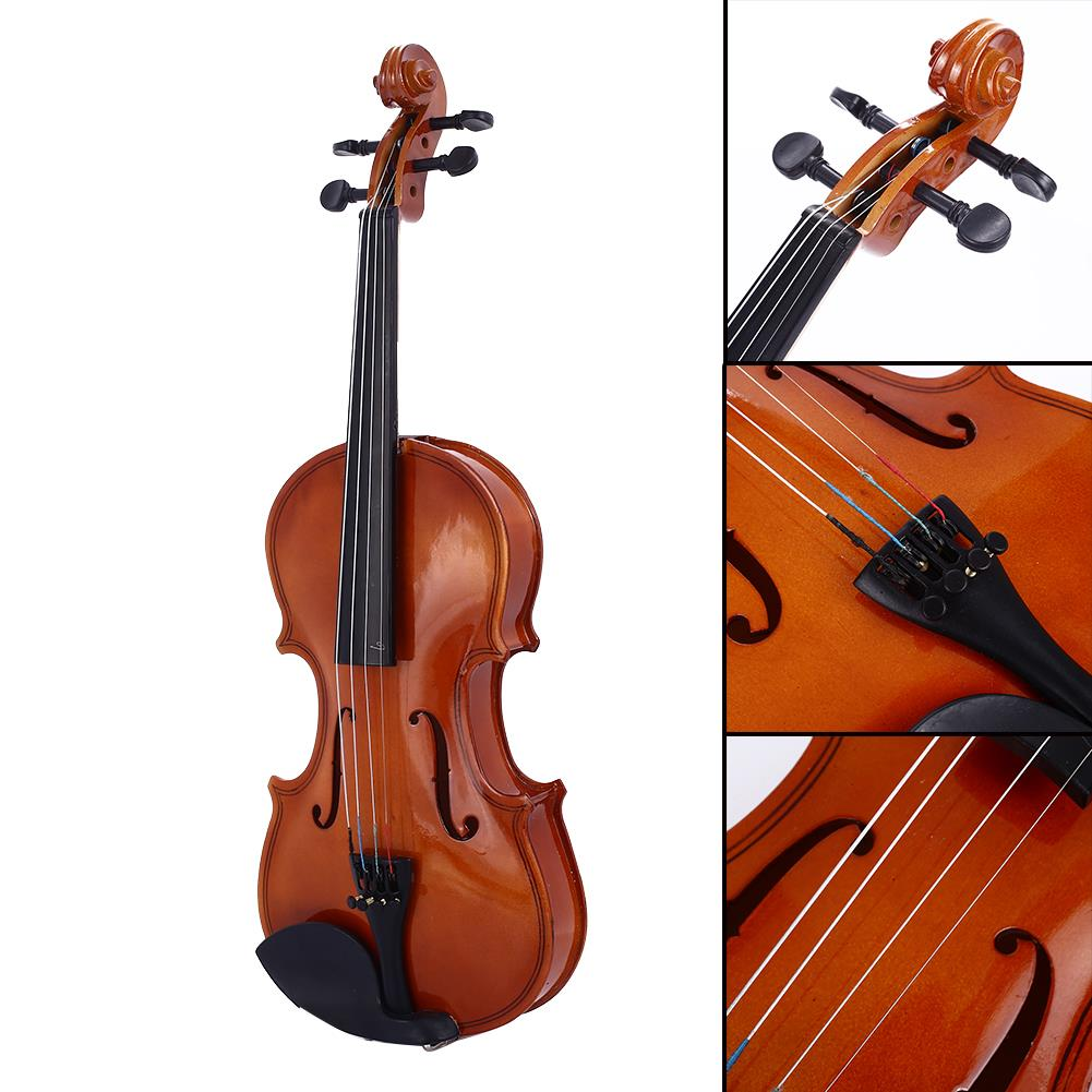 Decoration Oak Wood Beginner Violin Tochigi Violin 4-6 Years Old Portable Resin Music 1/8 Violin Durable Playing image