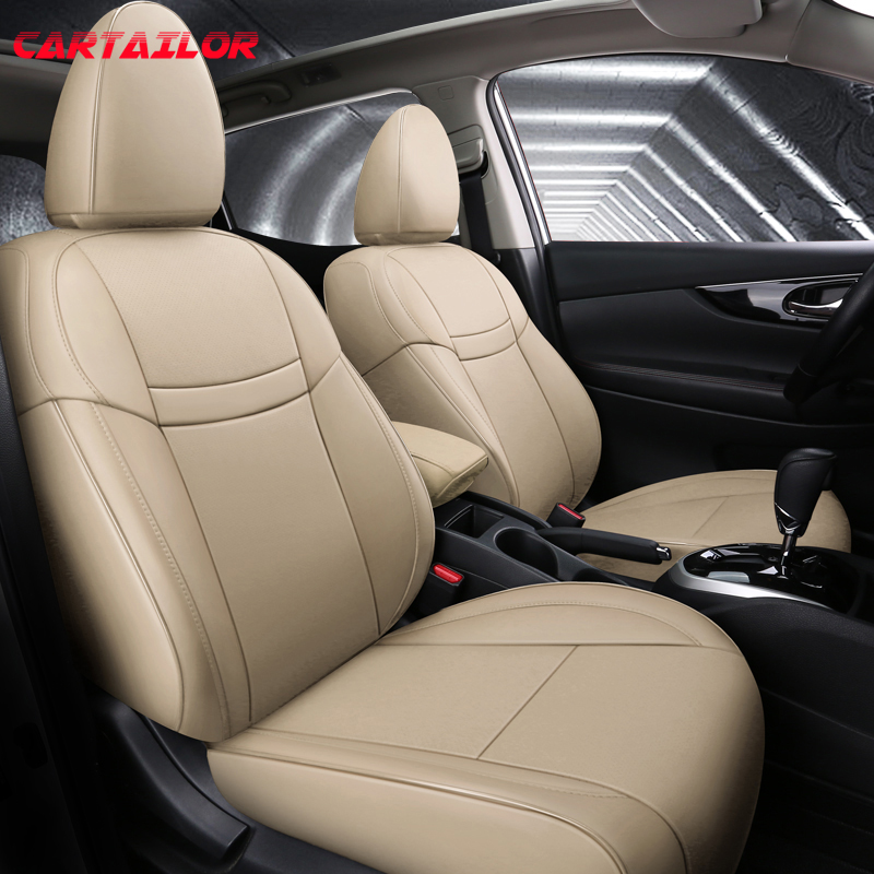 CARTAILOR Custom fit for 2019 Nissan Qashqai 2020 Car Seat Covers Cars Seat Cover Protector Faux Leather Styling Accessories Set