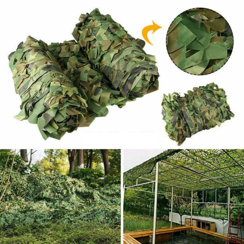 Hot 1x1.5m Camping Camo Net Army Woodland Jungle Camouflage Net Shooting Shelter Hide Netting Sun Shelter
