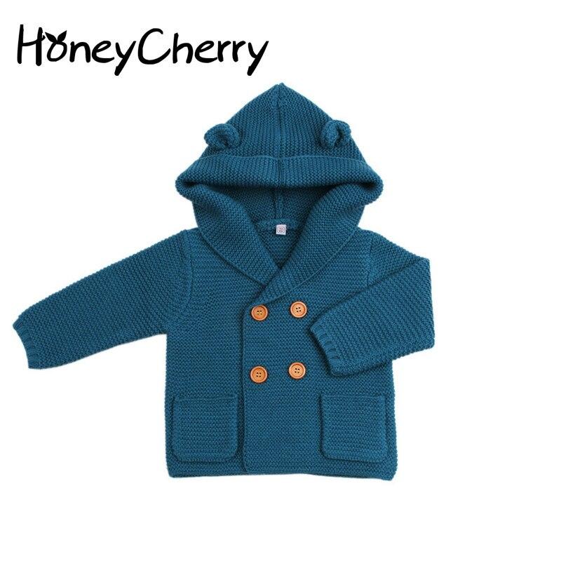 criancas cardigan camisola bone do menino cor pura camisola de malha outono e inverno casaco camisola