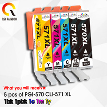 5pk Cartouche Dencre Compatible pour Canon Pixma MG5750 MG5751 MG5752 MG5753 MG6850 MG6851 MG6852 MG6853 Imprimantes IGP 570 CLI 571 XL