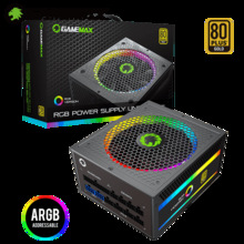 PSU Power-Supply Computer Fully-Modular Gold Gamemax 80-Plus 1050W RGB Ce with Light
