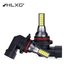 LED światła przeciwmgielne 9005 9006 biały żółty 36 sztuk CSP samochodów przednich Foglamp HB3 HB4 jasne wysokiej dioda LED dużej mocy 3D reflektor 12V 24V hlxg