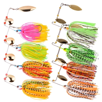 1 Set Spinner Bait Set Metal Jig 10g 16.4g 18.4g Fishing Lure Spinner Spinnerbait Hard Lure