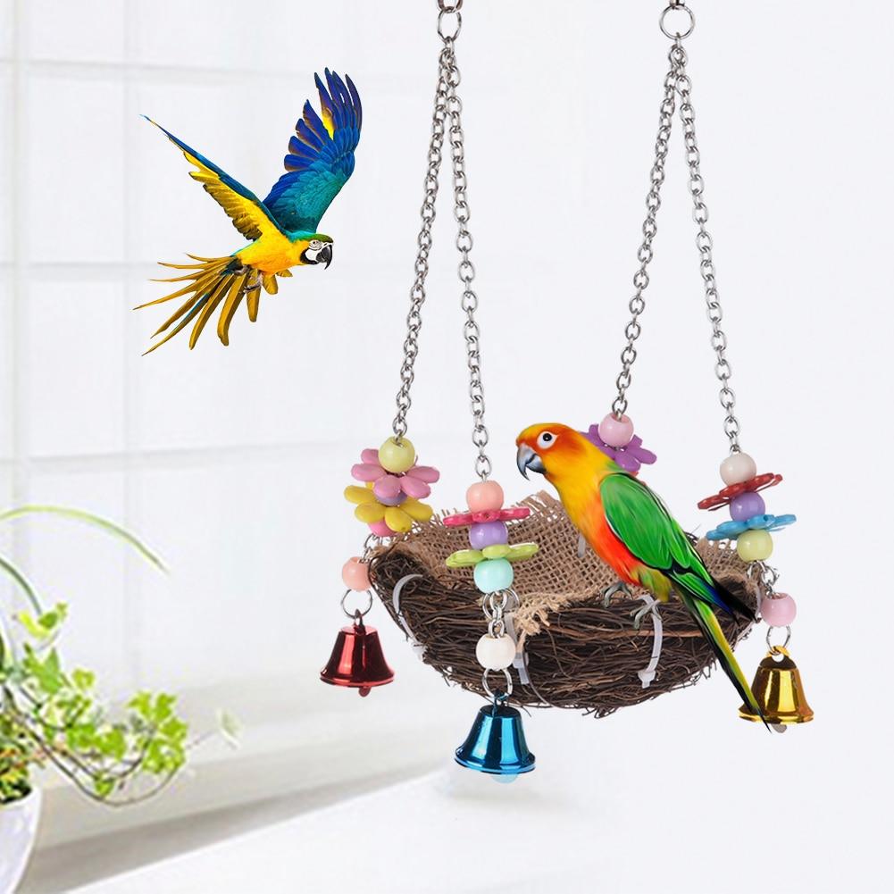 1PC Pet Bird Nest Hammock Swing Hanging Chew Toys Parrot Parakeet Budgie Cockatiel Parrot Hammock