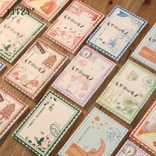 LITZY 50pcs Retro Memo Pad Korea Sheets Kawaii Creative Cute Message Notepad Decoration DIY Sticky Note Stationery Supplies