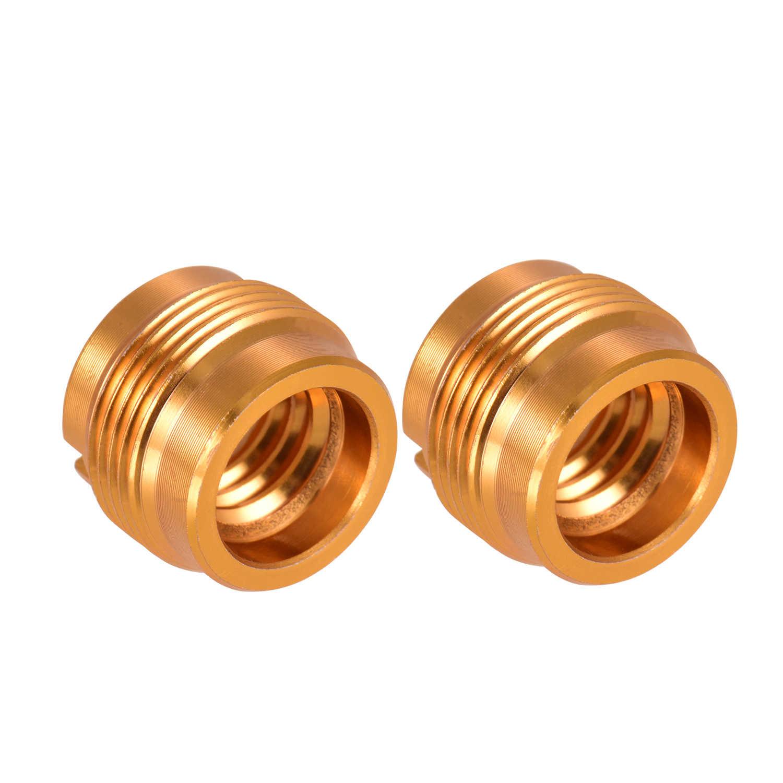 2pcs מיקרופון בורג מתאם 3/8 אינץ נקבה כדי 5/8 אינץ זכר הברגה אגוז ברגים עבור מיקרופון Micphone סטנד קלאמפ זהב צבע