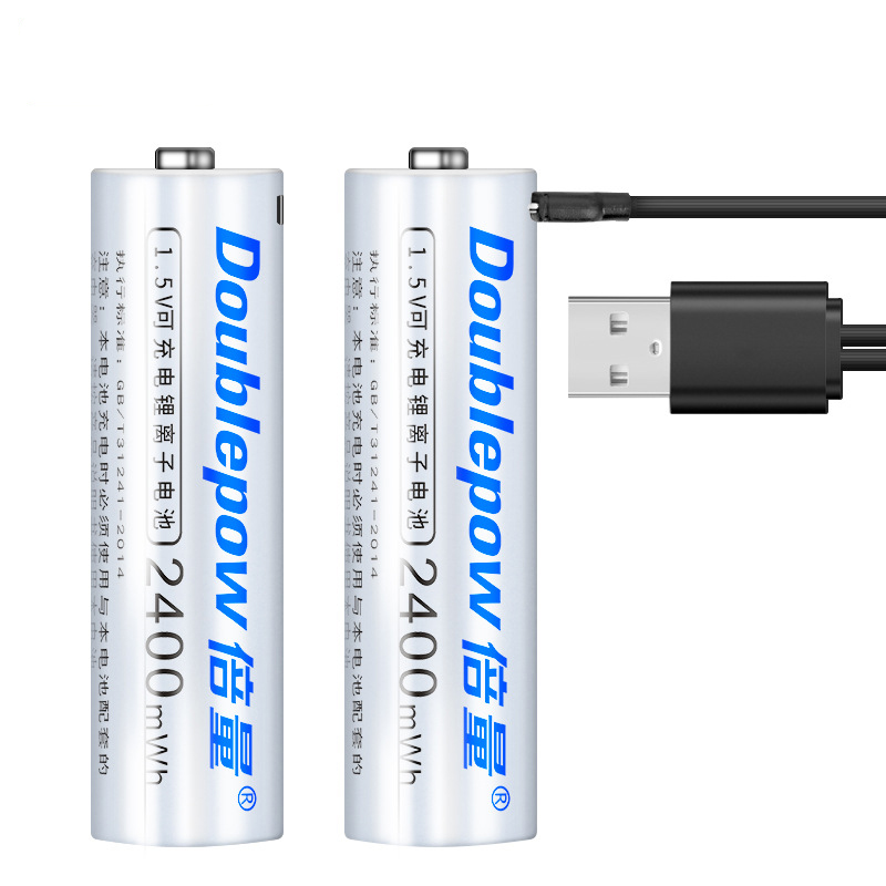 1PC 1.5V 1000mWh AAA 2400mWh AA Rechargeable Battery USB Charging Li-ion Rechargeable Bateria for Camera Flashlight Toy Battery image