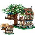 LOZ 1033 Neue Produkt Baum Haus 4761PCS Mini Gebäude Block Montage Szene Modell Spielzeug Für Kinder Geburtstag Geschenk