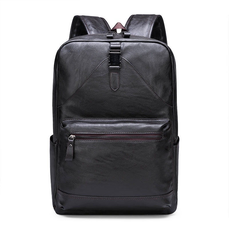 Новинка 2019, импортные товары, мужская сумка, модная деловая вместительная мужская сумка, повседневный мягкий кожаный рюкзак, рюкзак для