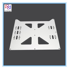 цена на Aluminum Y Carriage Anodized Plate Upgrade V2 Hot Bed Support Plate for Wanhao Prusa i3 RepRap DIY 3D Printer parts accessories