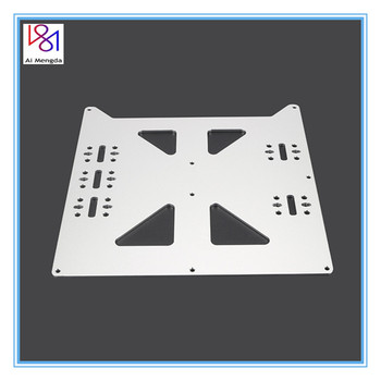 цена на V2 Aluminum Y Carriage Anodized Plate Upgrade Hot Bed Support Plate for Wanhao Prusa i3 RepRap DIY 3D Printer parts accessories