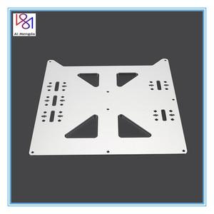 Image 1 - V2アルミyキャリッジアルマイトプレートアップグレードホットベッドサポートwanhao prusa I3 reprap diy 3dプリンタ用部品アクセサリー