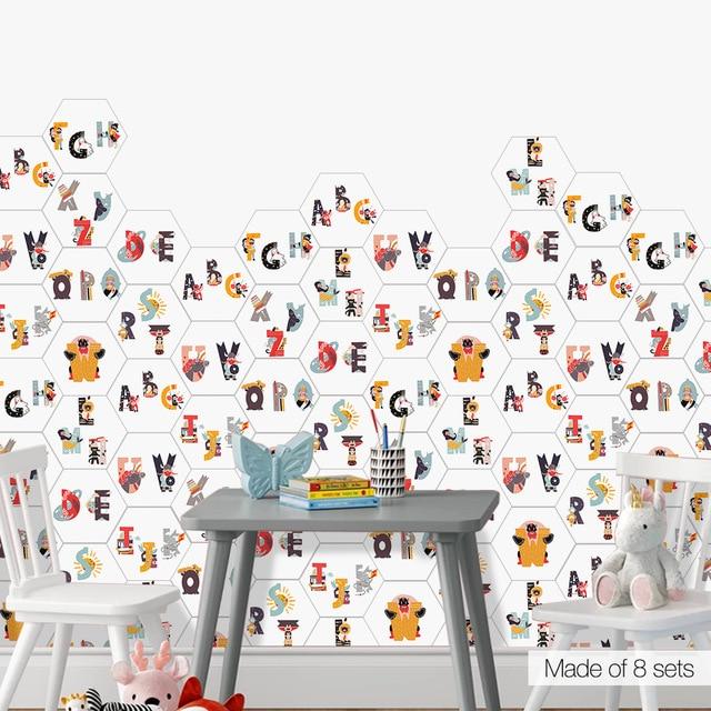 Pochoir en PVC imperméable enfants   Lettre ABC pour bricolage, pochoir en carrelage, pochoir réutilisable, autocollant mural/sol, décoration de la maison