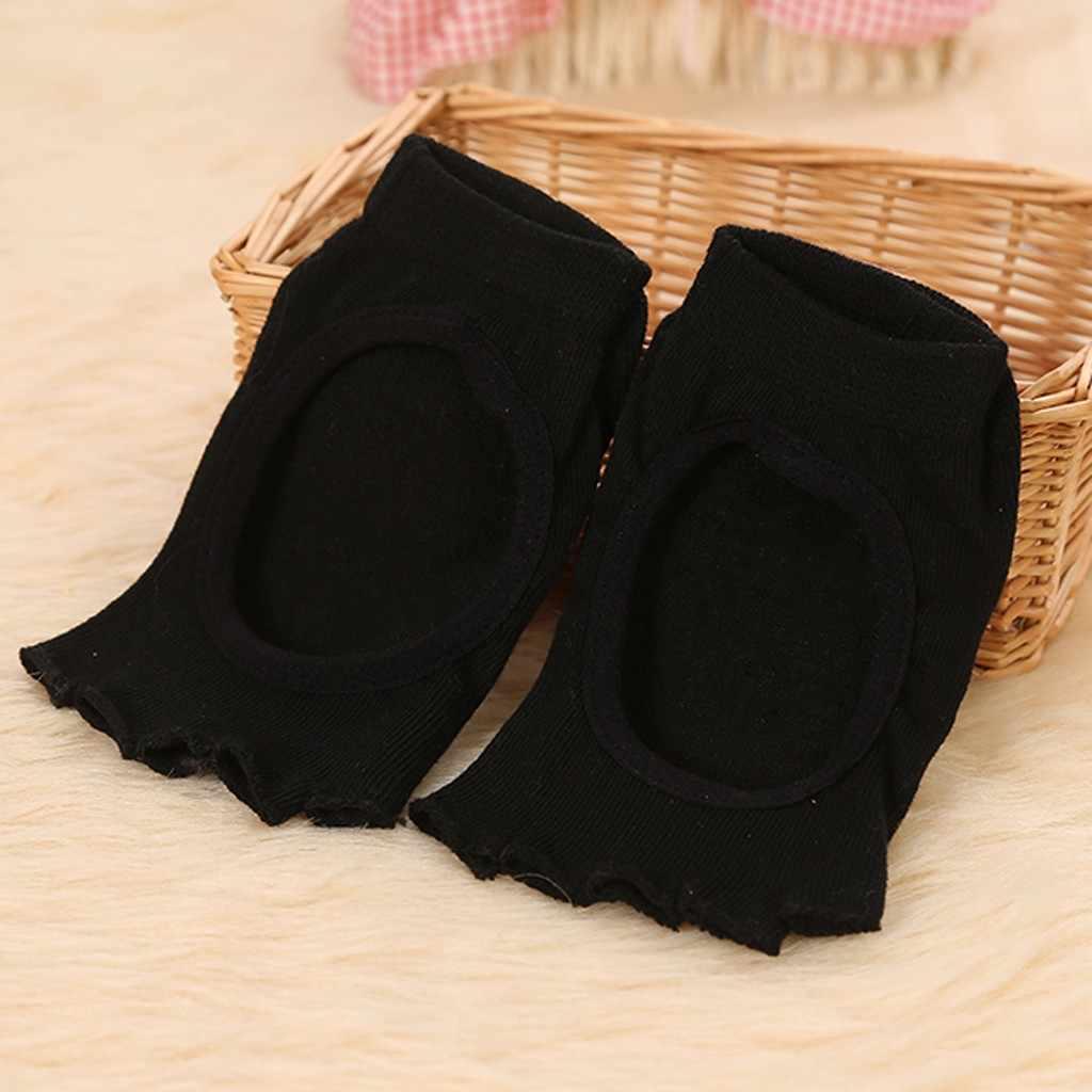 Sommer Atmungs Radfahren Socken Anti Slip Nahtlose Sport Socken für Frauen Nicht Beleg Toeless Halb Zeh Socken für Ballett Dance mujer