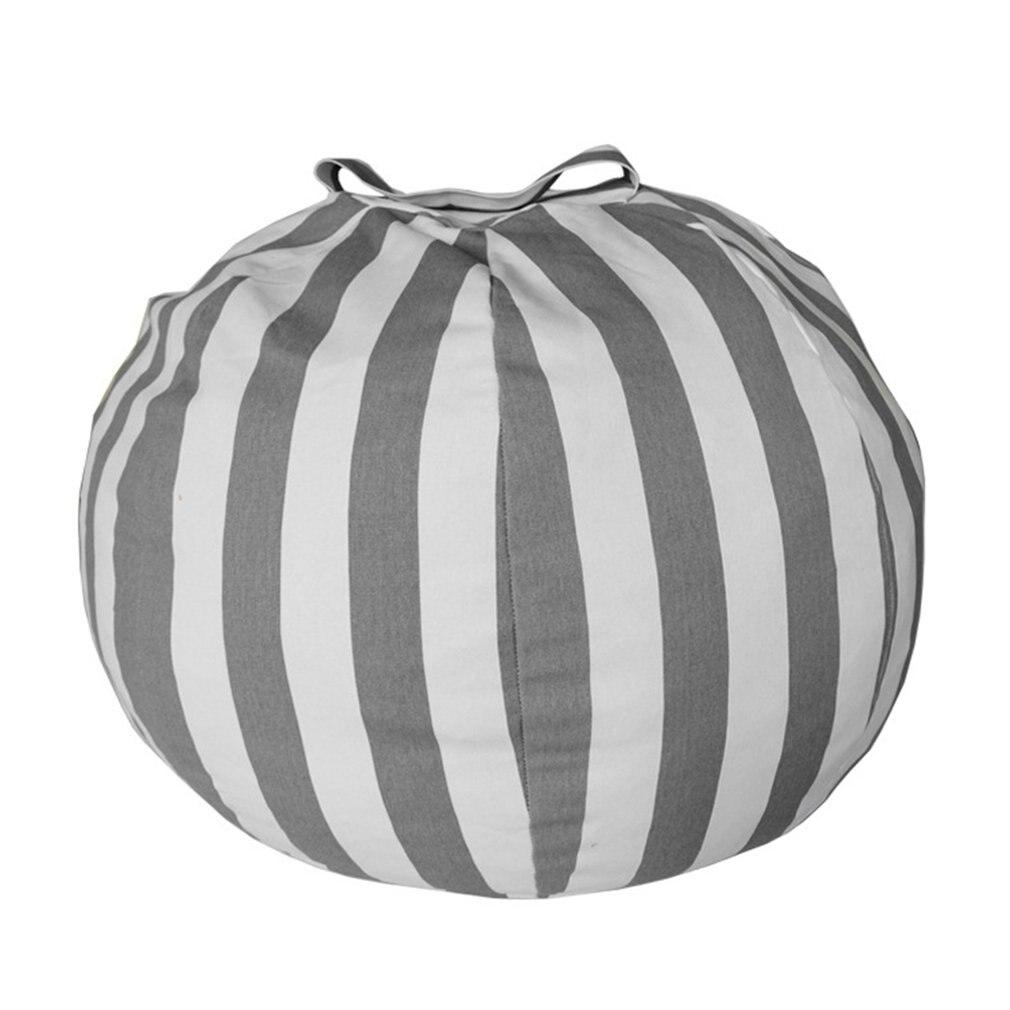 Grande feijão chairtoy sacos de armazenamento cadeira portátil crianças brinquedo saco de armazenamento & jogar esteira roupas organizador ferramenta 55cm/ 80cm breve estilo