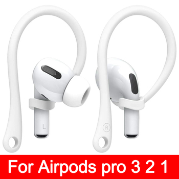 Sports Silicone Ear Hooks for Apple AirPods pro Accessories Anti-fall Bluetooth Earphone for airpod 2 3 Holder for Airpods 3 2 1 1