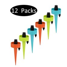 12pcs/set Auto Drip Irrigation Watering System Automatic Watering Spike for Plants Flower Indoor Household Waterers Bottle 12 18pcs automatic irrigation watering spike indoor household auto drip irrigation watering system set garden waterer for plants
