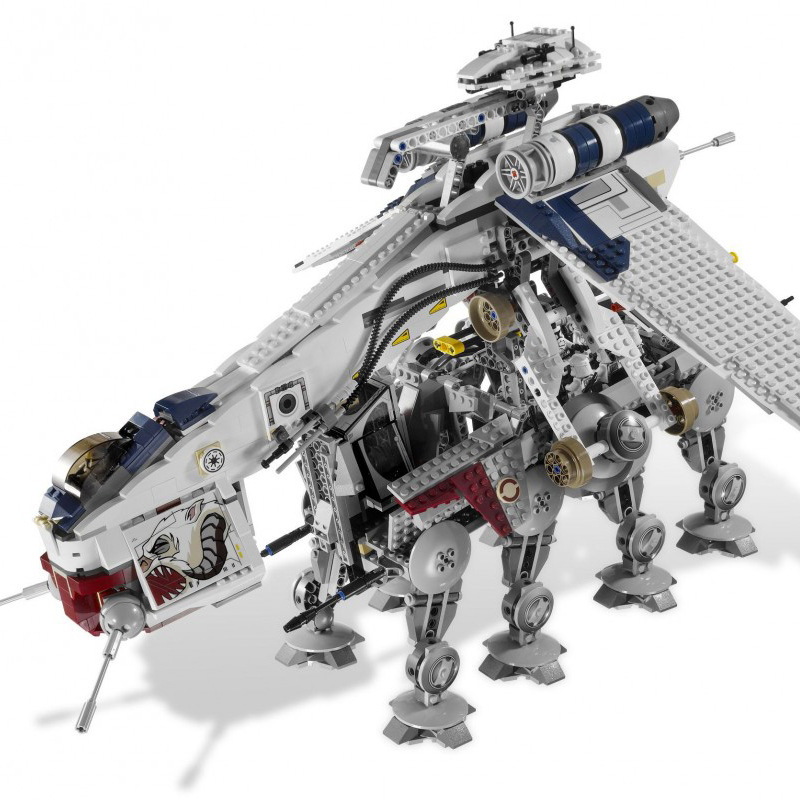 UPS send 05053 star wars the republic dropship with AT-OT walker 1758pcs building blocks <font><b>10195</b></font> bricks kids toys gifts image