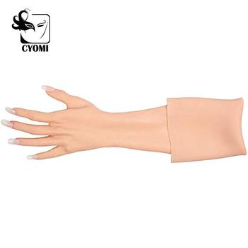 CYOMI Handmade Silicone Gloves Imitate a woman's hands Props for Drag Queen cover hand burns Hand scar occlusion Prosthetic limb