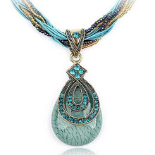 Special Offer Bohemian style retro-classic and elegant water drop necklace