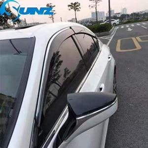 Image 5 - Wind Visor deflectors Rain Guards For LEXUS ES250/300h/350 2013 2014 2015 2016 2017 Sun Shade Awnings Shelters Guards SUNZ