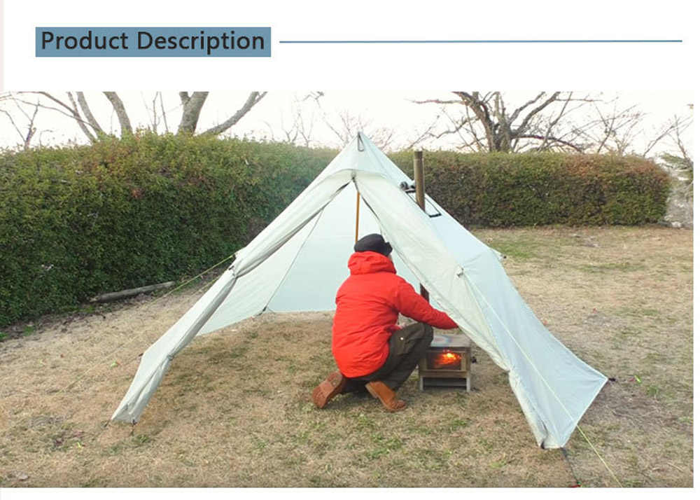 Tent Stove Fire Resistant Pipe Vent Accessory Keep Use Of Your 23*20cm Hot