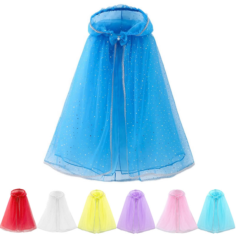 meninas com capuz capa de tule criancas cosplay acessorios vestido cabelo magico dormir beleza belle manteau