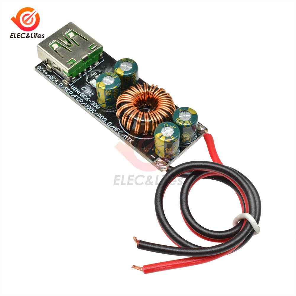 CONTROLLO di QUALITÀ 4.0 3.0 6-35 V Tipo-C USB Mobile di Potere Del Telefono di Ricarica Veloce Circuito DC Passo imbottiture Modulo per Huawei SCP/FCP PD Qualcomm