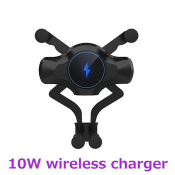 10W Car Qi Fast Wireless Charger for iPhone 8 X XS 11 Pro Max Carregador Sem Fio Holder for Samsung S10 S9 S8 Plus