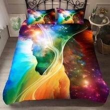 Ropa de cama estrellas Galaxy Textiles para el hogar ropa de cama ropa de la UE rey 240x220 Cm es de matrimonio de 210x210cm edredón juegos de ropa de cama Duver Cove conjuntos