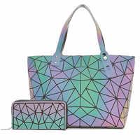 Grande crossbody sacos para as mulheres saco de mão moda conjunto bolsa e bolsas cor luminosa senhoras designer bolsas holográficas