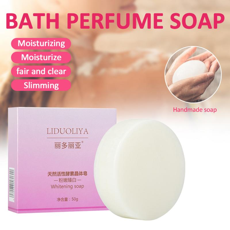 New LIDUOLIYA Handmade Soap Moisturizing Whitening Bath Perfume Soap Shrink Pores Deep Cleansing Restore Skin Bath Soap TSLM1