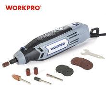 WORKPRO – Mini perceuse 220V, outil rotatif électrique avec accessoires électriques de meulage, Mini meuleuse à graver multifonction
