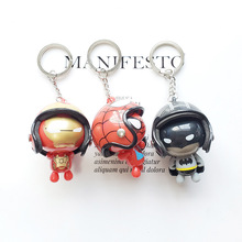 5pcs lot marvel movie masks avengers hulk captain america batman spiderman ironman party mask boy gift action figures toys e Marvel Avengers Keychain Captain America Shield Hulk Batman Mask KeyRing Wholesale doll Thor's Hammer Thanos Gauntlet Key Chains