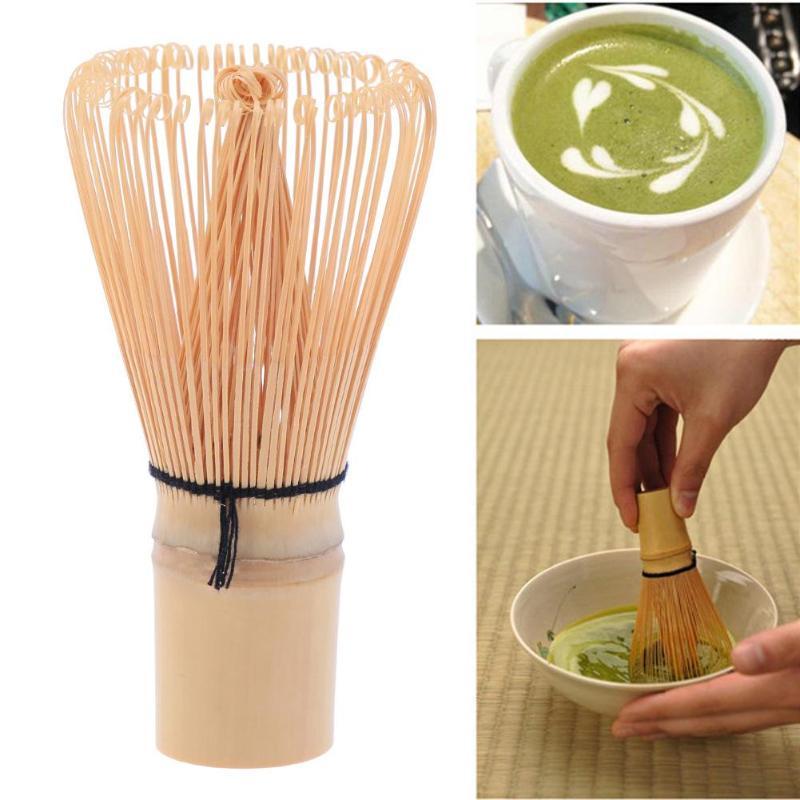 48-80 Bamboo Matcha Whisk Japanese Brush Professional Green Tea Powder Whisk Chasen Tea Ceremony Brush Tool Grinder