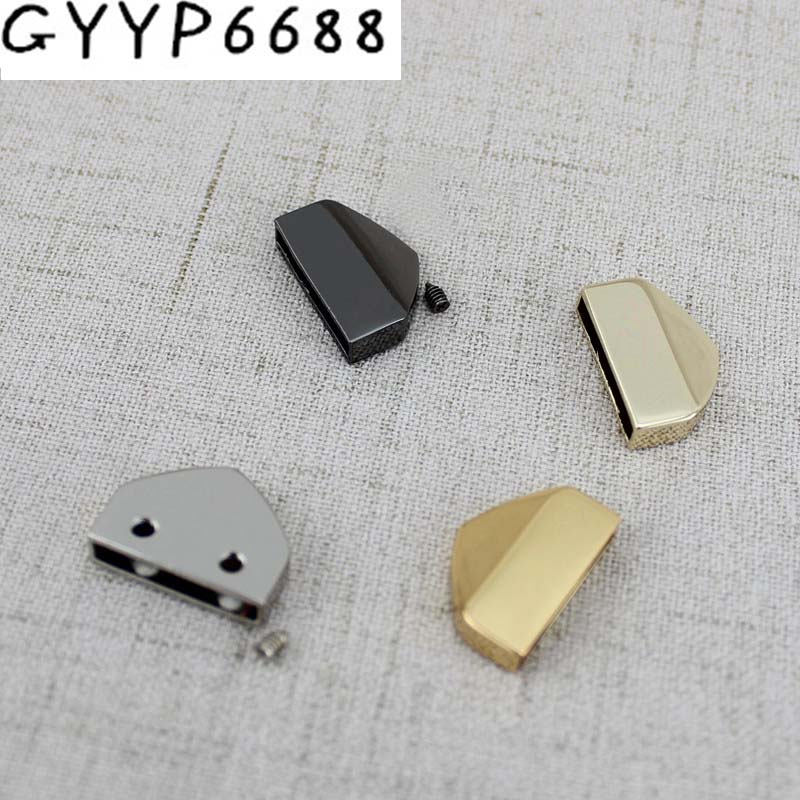 10pcs 50pcs High Quality Decoration End Clips By Screws Lhardware Straps Tail Clasp Accessory Gold Silver