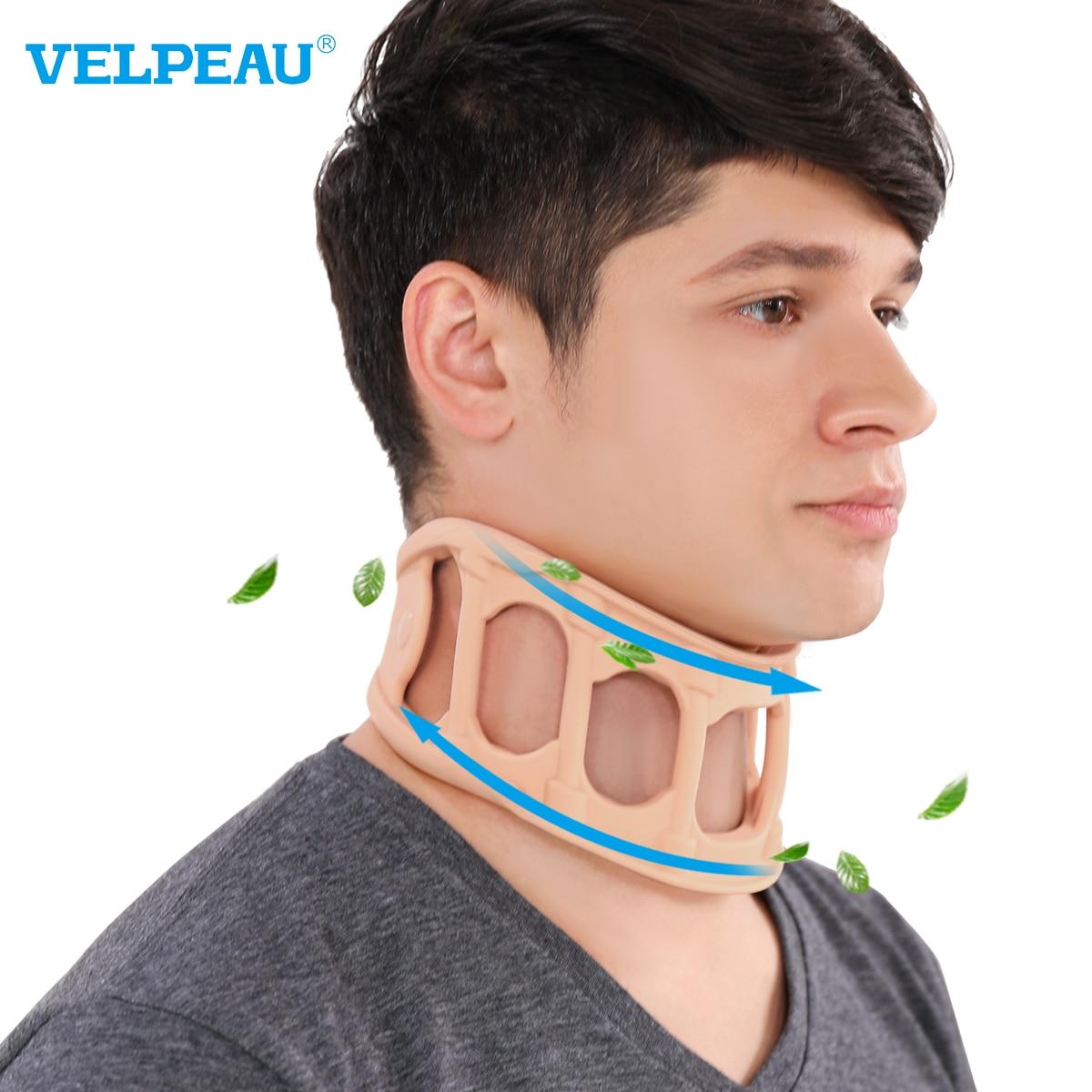Подвеска для шеи VELPEAU для шейного отдела позвоночника, прохладный и дышащий силиконовый ошейник для летней поддержки шеи, Сменный Чехол