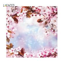 Laeacco Birthday Pink Flowers Wall Wreath Portrait Photophone Backgrounds Photography Customize Backdrops Props For Photo Studio customize washable wrinkle free rococo painting style forest photography backdrops for photo studio portrait backgrounds s 1250
