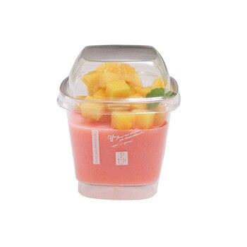 Pudding Cups 40 Uds 160 yogur ml Pudding desechable vaso plástico creativo contenedor para postres helado Mousse Vasos De Plastico