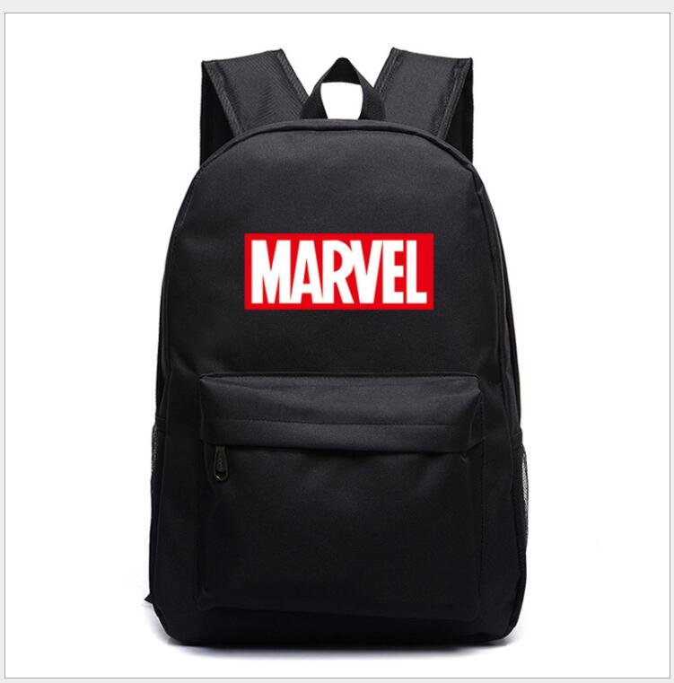 Multicolor Marvel Letter The Avengers Boys Girls School Bag Women Bagpack Teenagers Schoolbags Canvas Men Student Mochilas
