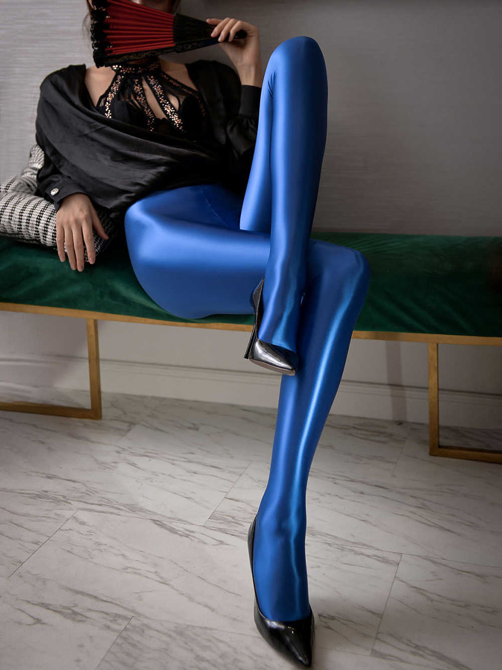 Shiny Spandex Strumpfhosen/Leggings