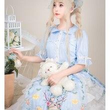 Милое платье принцессы в стиле Лолиты; винтажное платье в стиле «Питер Пэн» с кружевным воротником и бантом; милое платье с принтом в викторианском стиле; платье в стиле кавайной готической Лолиты для девочек; op cos