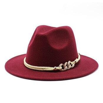 Black/white Wide Brim Simple Church Derby Top Hat Panama Solid Felt Fedoras Hat for Men Women artificial wool Blend Jazz Cap 10