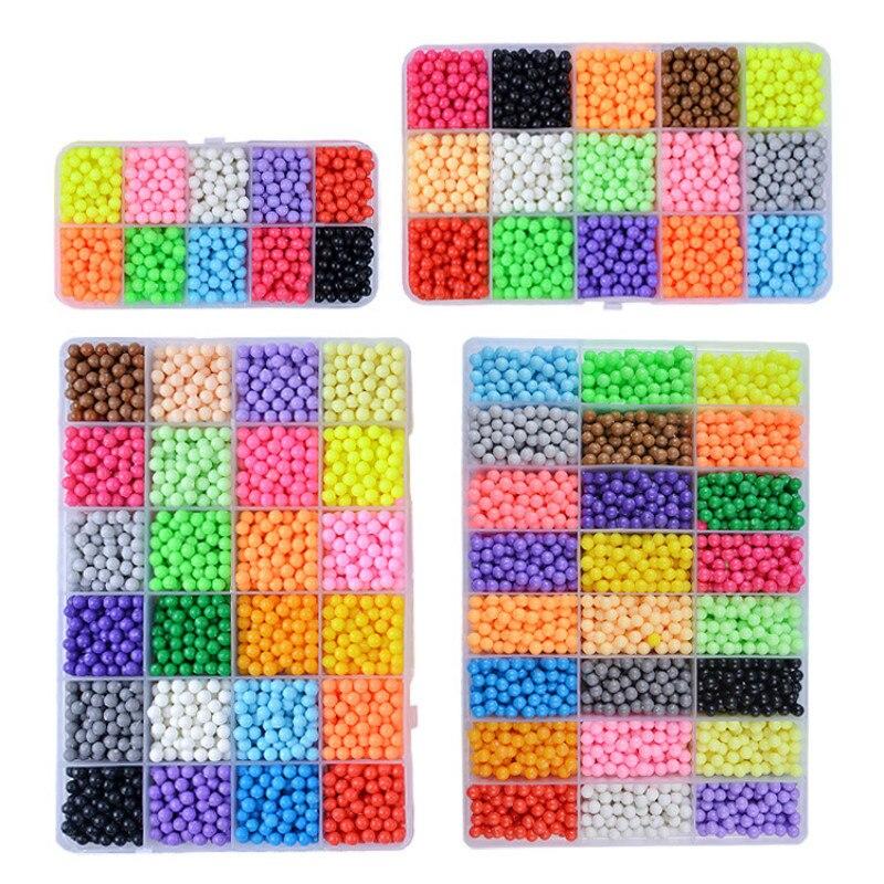 Magic Water spray hama beads 3D toys for kids girls Crystal aqua DIY puzzle pegboard Handmade hamma bead make up Ball Games