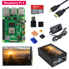 Raspberry Pi 4 Model B + 3.5 Inch Touch Lcd-scherm + Abs Case + Voeding + Sd-kaart + Koellichaam Voor Raspberry Pi 4(China)