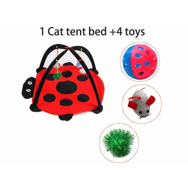 Portable Pet Cat Toys Funny Cat Tent Toys Mobile Activity Pets   3