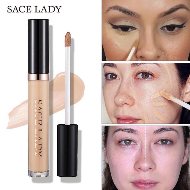 SACE LADY Pro Concealer Makeup Full Cover for Eye Dark Circle Face Corrector Cream Liquid Eye Primer Base Make Up Brand Cosmetic 5