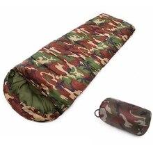 Открытый Сверхлегкий хлопковый спальный мешок для кемпинга 15~ 5 градусов Конверт Стиль Армейский или военный или камуфляж спальные мешки ленивый мешок