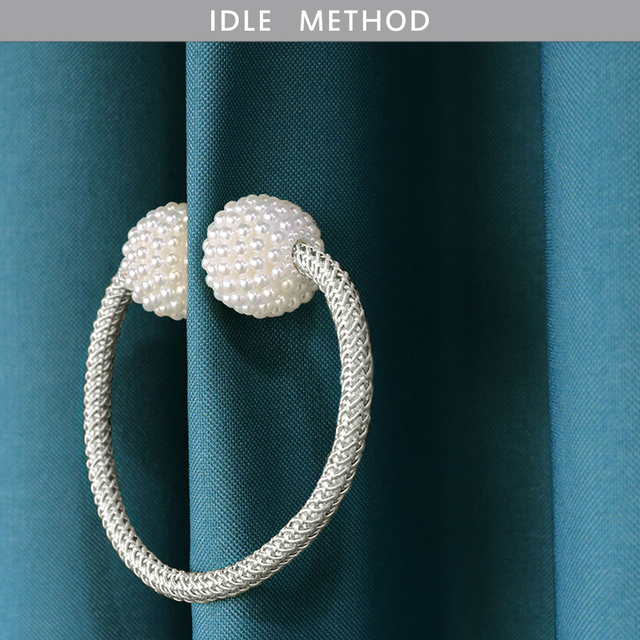A- 1pc Pearl Magnetic Curtain Clip 2